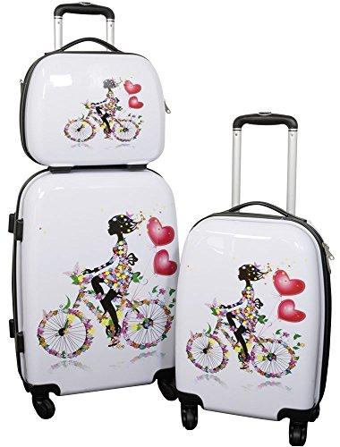 Koffer Set Reisekoffer Martinique 3 tlg incl Beautycase Polycarbonat Hartschale Designer