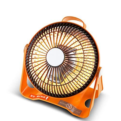 Petit chauffe-soleil Ménage Mini Petit chauffe-énergie électrique économiseur d'énergie Table d'étudiant dortoir radiateur ventilateur Rôtissoire Poêle (Color : Orange)