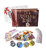 Pulaisen Our Adventure Book with Colored Gift Box- Up Movie Scrapbook - Refillable Photo Album for Christmas Valentines Gift Birthday Wedding Anniversary Present
