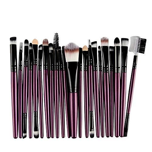WINJIN 22 Pcs Maquillage Pinceaux Ensemble Complet Brosse Cosmétique brosse de maquillage pour Poudre Fondation Fard À Paupières Eyeliner Lèvres
