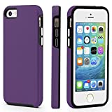 CellEver iPhone 5/5s/SE (2016 Edition) Case, Dual Guard Protective Shock-Absorbing Scratch-Resistant Rugged Drop Protection Cover for iPhone 5/5S/SE (Purple)