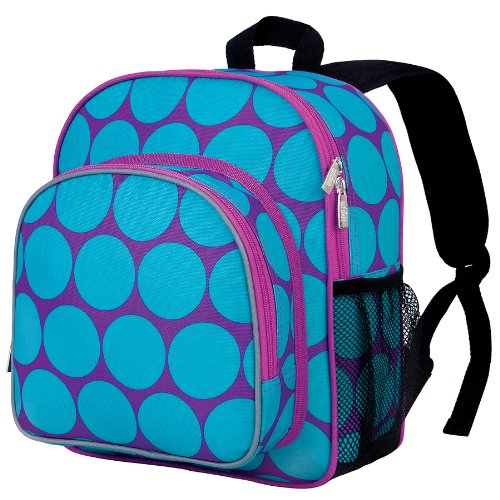 Wildkin 12 Inches Backpack for Toddlers, Boys and Girls, Ideal for Daycare, Preschool and Kindergarten, Perfect Size for School and Travel, Mom's Choice Award Winner, BPA-Free (Big Dots Aqua)