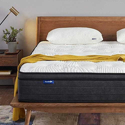 Sweetnight Queen Mattress in a Box - 12 Inch Plush Pillow Top Hybrid...
