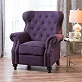 Christopher Knight Home Walder Tufted Fabric Recliner, Plum
