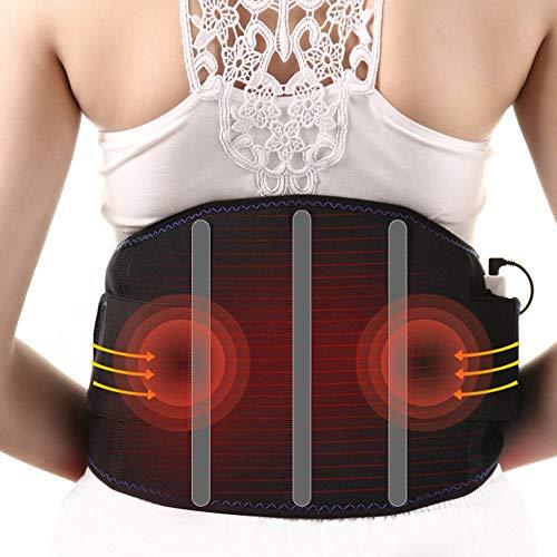 HGJDKSJ massageborstel, oplaadbaar, warme compressor AI Cao, drie temperatuurinstellingen, verlichting van pijn in de taille en buik