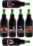 Tinovo Premium Bier Flaschenkühler (500 ml) // 6 Stück in einem Set // Cooles Männergeschenk //...