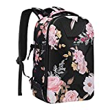 MOSISO Camera Backpack, DSLR/SLR/Mirrorless Photography Camera Bag Peony Waterproof Hardshell Case with Tripod Holder & Laptop Compartment Compatible with Canon/Nikon/Sony/DJI Mavic Drone, Black