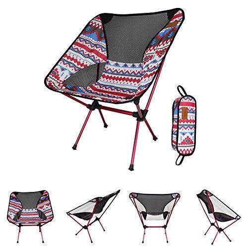 HXiaDyG Opklapbare campingstoel, draagbaar, 150 kg, ultraaluminiumlegering, rugleuning, maximale belasting, voor wandelen op het strand vissen in de open lucht