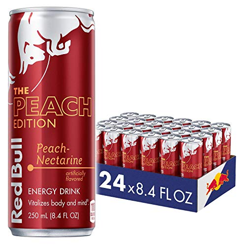 Red Bull Energy Drink, Peach Edition, 8.4 Fl Oz (24 Pack)