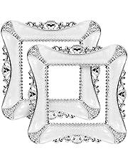 Lackingone - Pegatinas de interruptor de luz de lujo cuadrado de plástico cubierta decoración del hogar etiqueta (blanco)