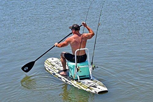 California Board Company CBC 10' Marlin Foam Fishing SUP with Rod & Gear Rack, Camouflage