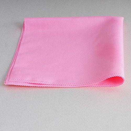 ZHFC pink hotel mariage couleur tissu tissu tissu salle de conférence table tissu en verre tissu 48 * 48cm 1 bloc,Rose,240 x 240 cm