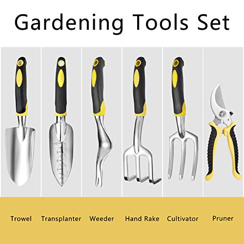 EKIES 25 PCS Gardening Tool Set, Basic Garden Tools for Indoor/Outdoor Gardening, Garden Tool Set with Hand Tools, Tote Bag, Gloves, Repotting Mat and More - Garden Kit for Women