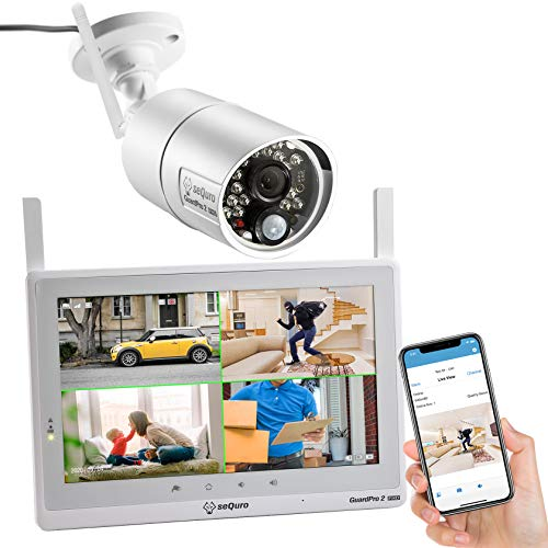 SEQURO Wireless Security Camera System with Monitor