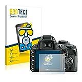 BROTECT Protector Pantalla Anti-Reflejos Compatible con Nikon D3100 (2 Unidades) Pelicula Mate Anti-Huellas
