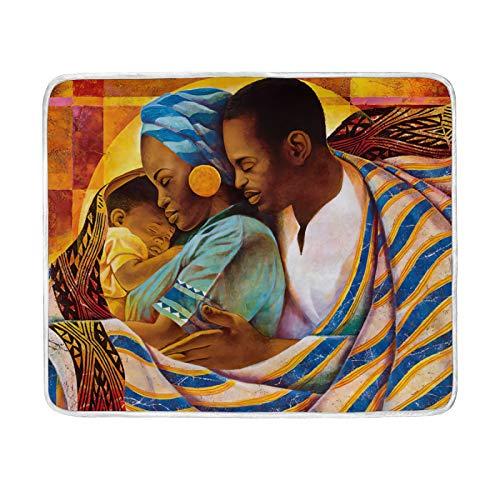 FULUHUAPIN Manta de forro polar afroamericana para adultos y niñas, de fácil cuidado, lavable a máquina, suave manta de 132 x 152 cm 2030292