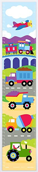 Olive Kids Trains Planes And Trucks Wall Decal Growth Chart