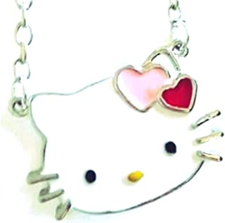 5b16cb403 Glazed Black Cherry Sweet charm Hello Kitty Necklace Pendant Fashion Jewelry  for Girls Bling hearts bow