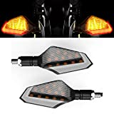 Cynemo Motorcycle Led Turn Signal Lights Blinkers Front Rear Indicators for Motorbike Yama...
