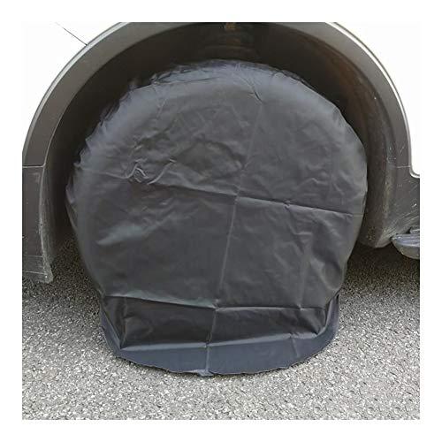 WKZWY Autoreifen-Abdeckung Sonnenschutz Anti-Aging-wasserdichte Abdeckung Rattan Patio Anti-UV-Außenstaubdicht, 1 Paket 4 Means, 2 Farben (Color : Schwarz, Size : 83cm)