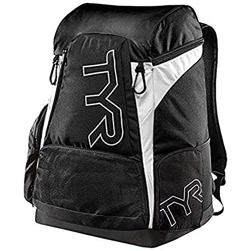 Check Out This Swim Bundle: TYR Alliance 30L Backpack Black All & Swimming Earplugs