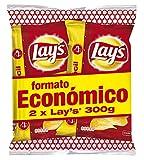 LAY'S patatas fritas al punto de sal pack 2 bolsas 300 gr