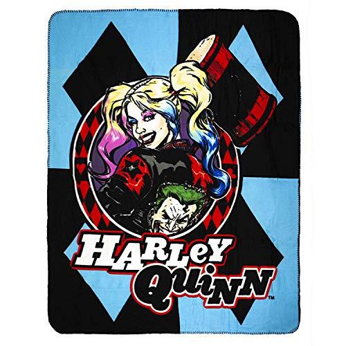 51D2no0YNdL Harley Quinn Blankets