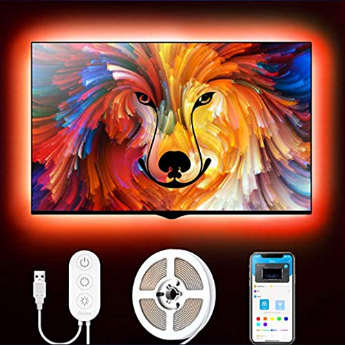 Govee TV LED Backlight Strip, 6.56ft USB LED Strip Lights for 40-60 inch TV, APP Control, 16 Million Colors, 7 Scenes Mode RGB LED Lights for TV PC Monitor Gaming Room