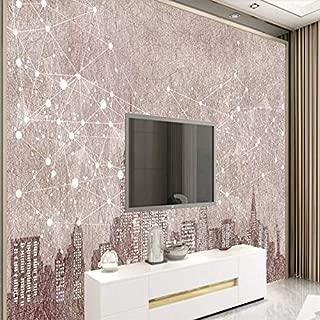 QIANLAI Decorative Wallpaper Urban Night Scene Modern Simple Background Wall,2squaremeter