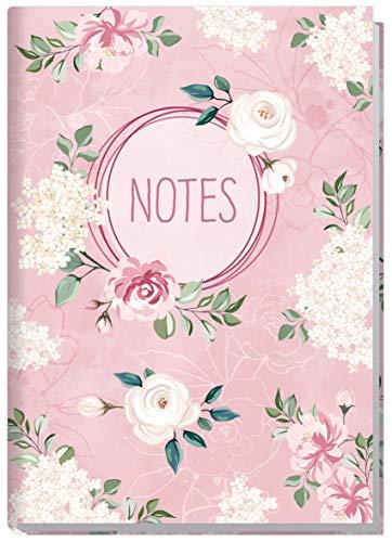 Notizbuch A5 liniert [Blütentraum] von Trendstuff by Häfft | als Tagebuch, Bullet Journal, Ideenbuch, Schreibheft | stylish, robust, biegsam, abwischbares Cover