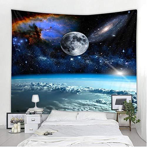fczka Tapiz del Espacio Exterior Impreso en 3D Sala de Estar Dormitorio Decoración Playa de Arena Toalla de Picnic 51x59 Inches(130x150cm)