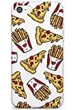 Patterns Fast Food Pizza & Fries Slim Cover per iPhone 6 TPU Protettivo Phone Leggero con Fast Food Modello Porta Via Patatine Fritte Patatine