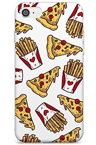 Patterns Fast Food Pizza & Fries Slim Cover per iPhone 6 TPU Protettivo Phone Leggero con Fast Food Modello Porta Via Patatine Fritte Patatine