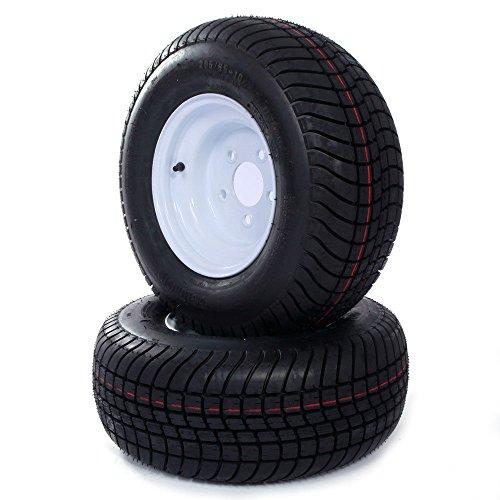 Set of 2 Trailer Tire & Rims 20.5 X 8