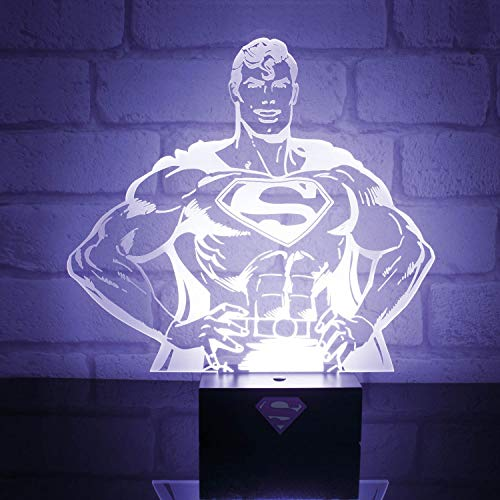 DC Comics Pp2997Dc Superman Hero Light en Plastique Transparent
