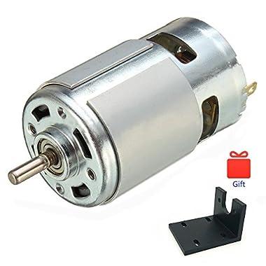 6000RPM 2 X Buehler 12V DC Large Hobby Motor w// Short Slotted Shaft 200 Watt