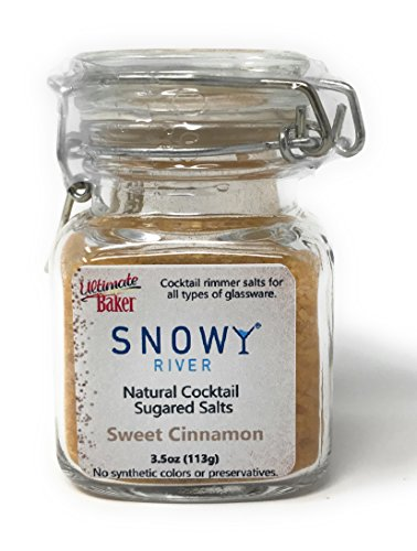 Snowy River Cinnamon Cocktail Salt Mix - All Natural Sweet Cinnamon Cocktail Rimmer and Coffee Rimmer (1x3oz Glass Gift Bottle)