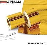 EPMAN5cm x 5MeterRolleselbstklebendhitzeisolierendgolden bis 450°C