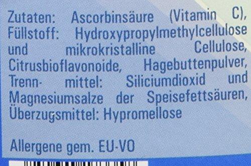 Vitasyg Vitamin C 1000 mg plus Bioflavonoide, für Immunsystem, Haut, Zähne und Knorpel – 500 Tabletten, 1er Pack (1 x 650 g) - 6