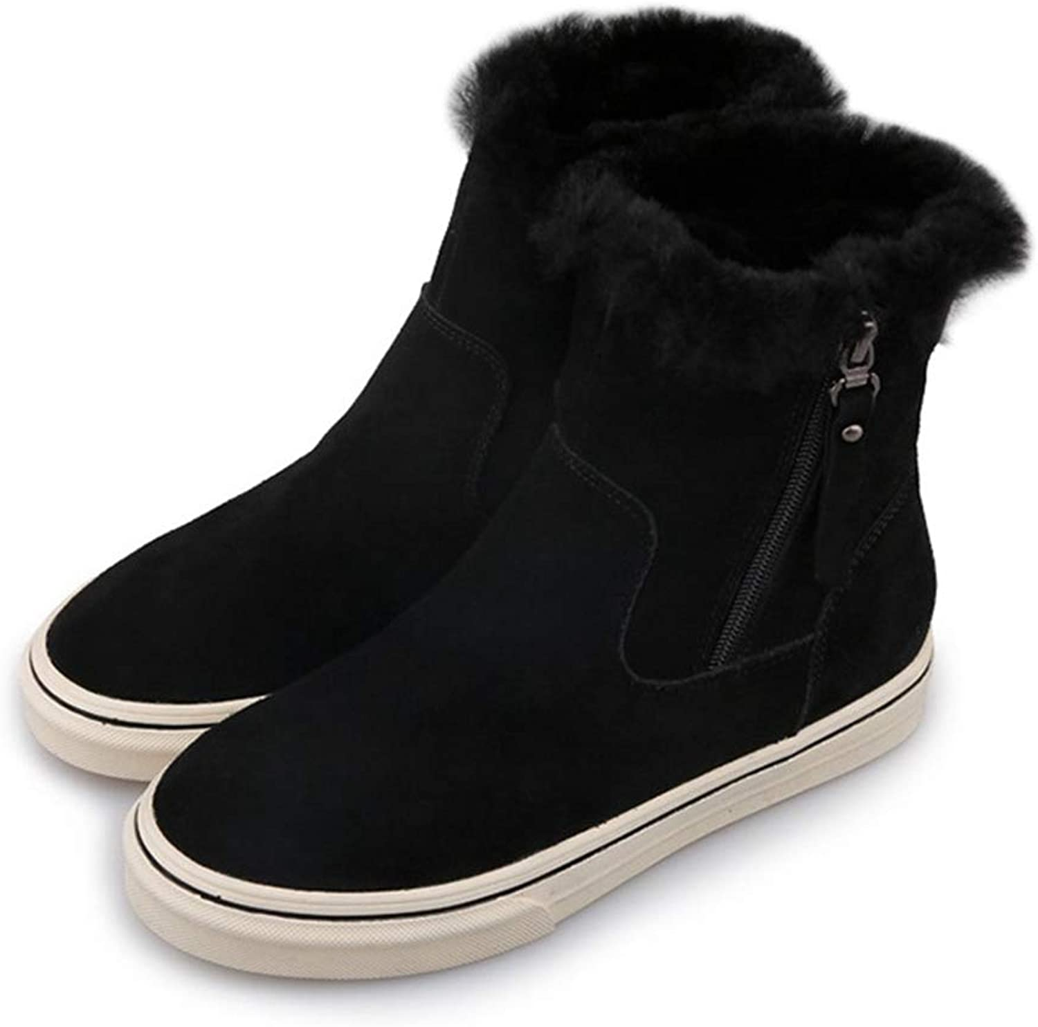 Kyle Walsh Pa Women's Boots Female Ankle Booties Warm Fur Soft Comfortable Winter Flats shoes