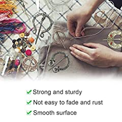 DURANTEY 6 PCS Vintage Viking Brooch Medieval Cloak Pin Antique Sliver & Rose Gold Scarf Shawl Buckle Clasp Pin Zinc Alloy Penannular Brooch for Clothing Jewelry Costume Accessory(5~6cm*4~7cm) #2