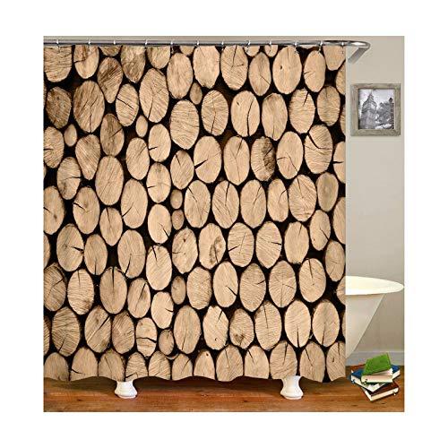 KnSam Duschvorhang mit 12 Vorhanghaken Wasserdicht Waschbar Anti Schimmel 3D Wasserwürfel Badewanne Gardinen für Badezimmer Bad Vorhang Stil 15 165 x 180 cm