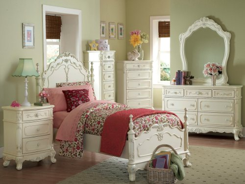 Purchase Home Elegance Cinderella 4 PC Twin Bedroom Set in Off-White/Cream