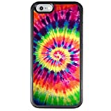 Tie Dye iPhone 6s 6 Case, PC and TPUShockproof Slim Anti-Scratch Protective Kit with Heavy Duty Dual layer Rugged Case Non-slip Grip Cover for iPhone 6s 6,Black