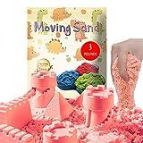 CROSOFMI Sabbia Cinetica per Bambini Magica Colorata Modellabile Sand Giochi per Ragazzi e Ragazze Oltre i 3 Anni(Rosa)