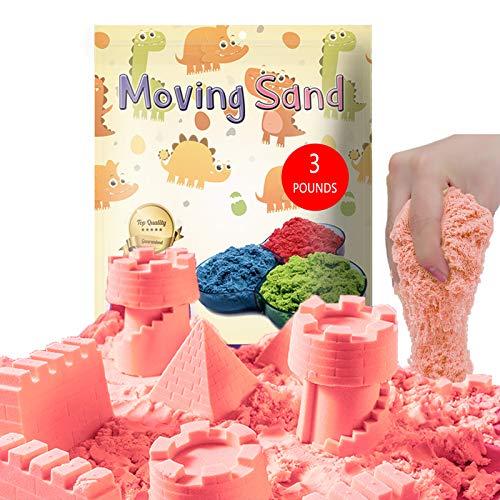 CROSOFMI Arena Magica Niños Super Cinética Color Sand Playa Juegos para Niños Chico Chica Mayores de 3 Años(Rosado)