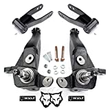 WULF 4' Front 2' Rear Leveling Lift Kit with Spindles & Shackles compatible with 2001-2011 Ford Ranger 2WD with Coil Spring Suspension