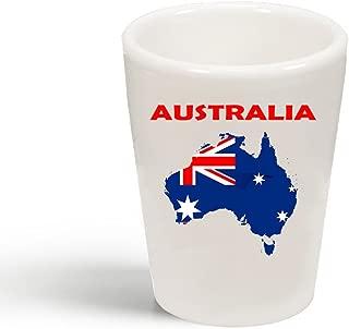 Style In Print Australia Original Country Name Ceramic Shot Glass Cup