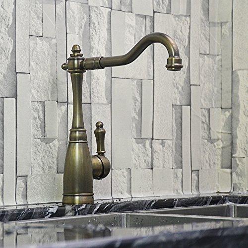 Yannini Antik Geschwungene Waschbecken Wasserhahn _ Kupfer Rotierenden Küchenspüle Waschbecken Wasserhahn