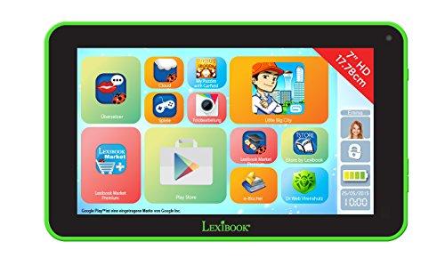 Lexibook MFC145DE1Z - Neon 7 Zoll Tablet mit Minions Schutzhülle, Schwarz/grün